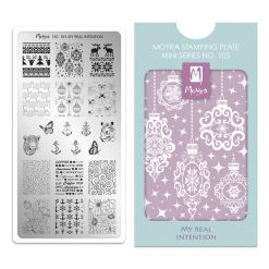 Moyra Mini Stamping Plate 105 - My Real Intention