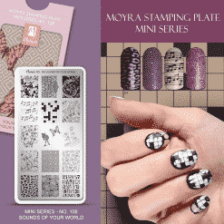 Moyra Mini Stamping Plate 108 – Sounds of your World