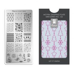 Moyra Mini Stamping Plate 122 - Let It Snow