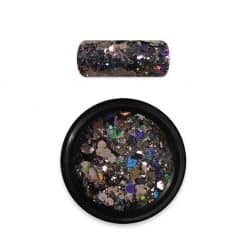 Moyra Rainbow Holo Glitter Mix Black