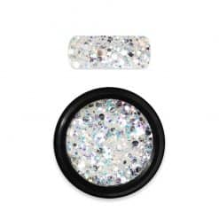 Moyra Rainbow Holo Glitter Mix White