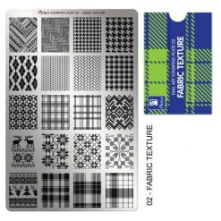 Moyra Stamping Plate 02 - Fabric Texture
