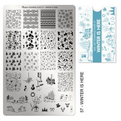 Moyra Stamping Plate 57 - Winter is Here