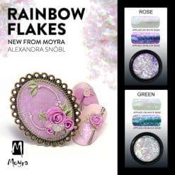 Rainbow Flakes Green