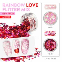 rainbow flitter mix van moyra love 02