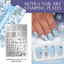 Stamping Plate 101 Wintertime Moyra