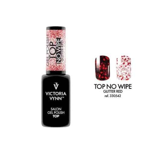 Victoria Vynn Salon Gelpolish - Top No Wipe Glitter Red