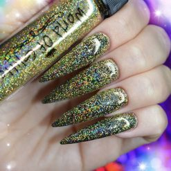 World Of Glitter Cannes Super Charged Gold Holographic Nail Glitter 10 Gram
