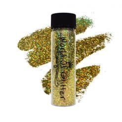 World Of Glitter Cannes Super Charged Gold Holographic Nail Glitter