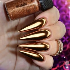 World of Glitter Chrome Nail Dust - Jupiter Bronze