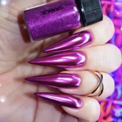 World of Glitter Chrome Nail Dust - Uranus Magenta