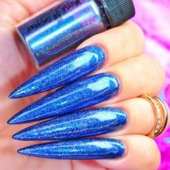 World Of Glitter Holographic Chrome Dust Galaxy Blue