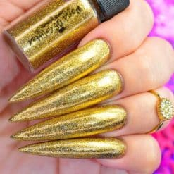 World Of Glitter Holographic Chrome Dust Galaxy Gold