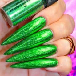 World Of Glitter Holographic Chrome Dust Galaxy Green