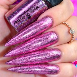 World Of Glitter Holographic Chrome Dust Galaxy Pink