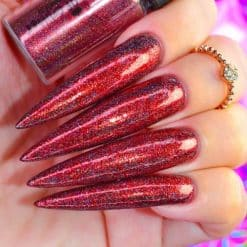 World Of Glitter Holographic Chrome Dust Galaxy Red